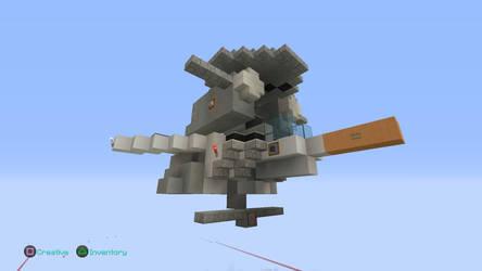 1/1 scale VE-1 Elintseeker in Minecraft PS4