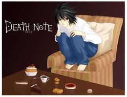 L - Deathnote fanart by Lina01