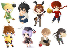 Old chibis by Lina01