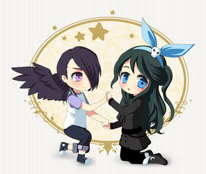 Chibi Commission For Angelic-poptart by Lina01