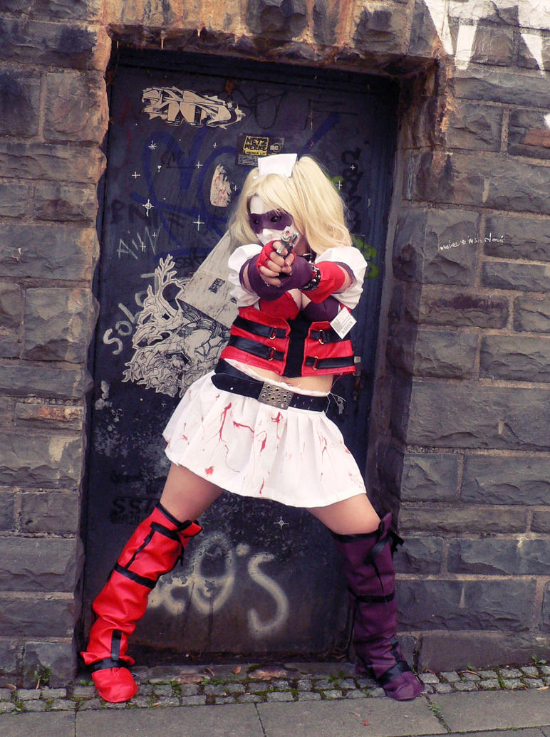 Harley Quinn BAA - Reach for the sky, Bats! by Yami-Oscuridad