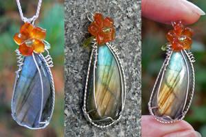 subtropic teardrop pendant by magpie-poet