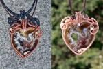 Copper Heart Geode