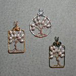 Sakura Tree Pendants by magpie-poet