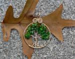 Deep Green Tree Pendant