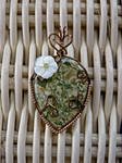 Water lily Wire Wrap Pendant