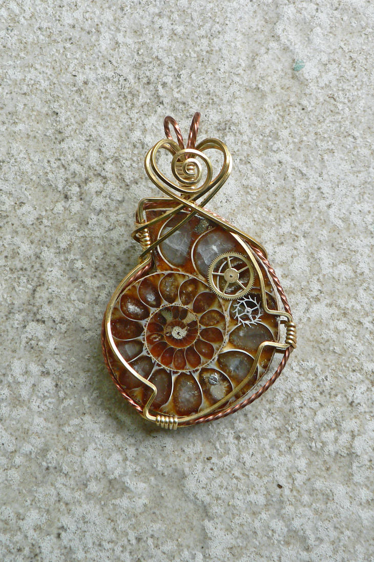 Another Aronnax Ammonite Pendant by magpie-poet
