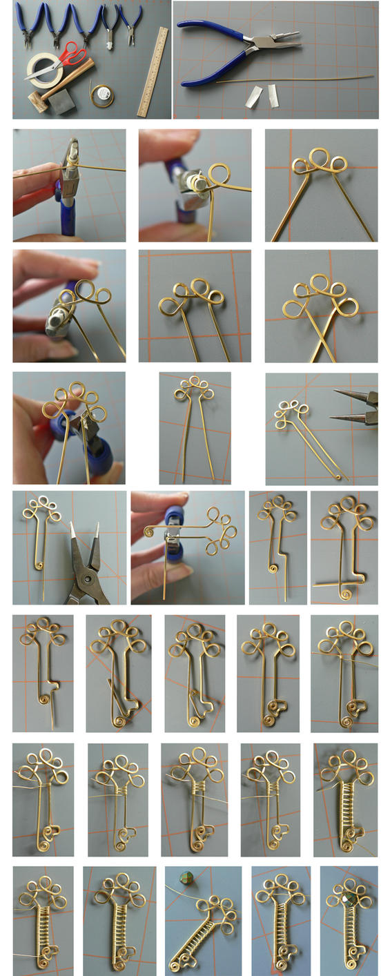 Simple Wire Key Tutorial (photos only) by magpie-poet