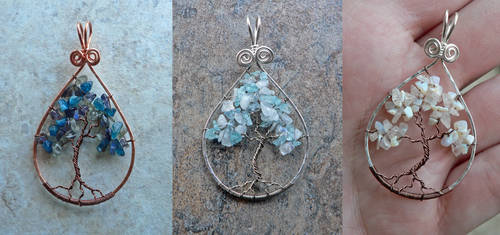 New Stormy Tree of Life Pendants
