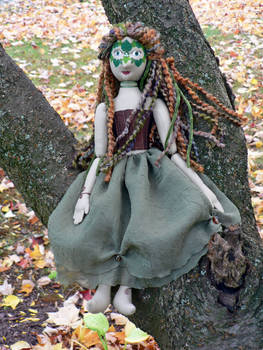 Greenwoman Doll