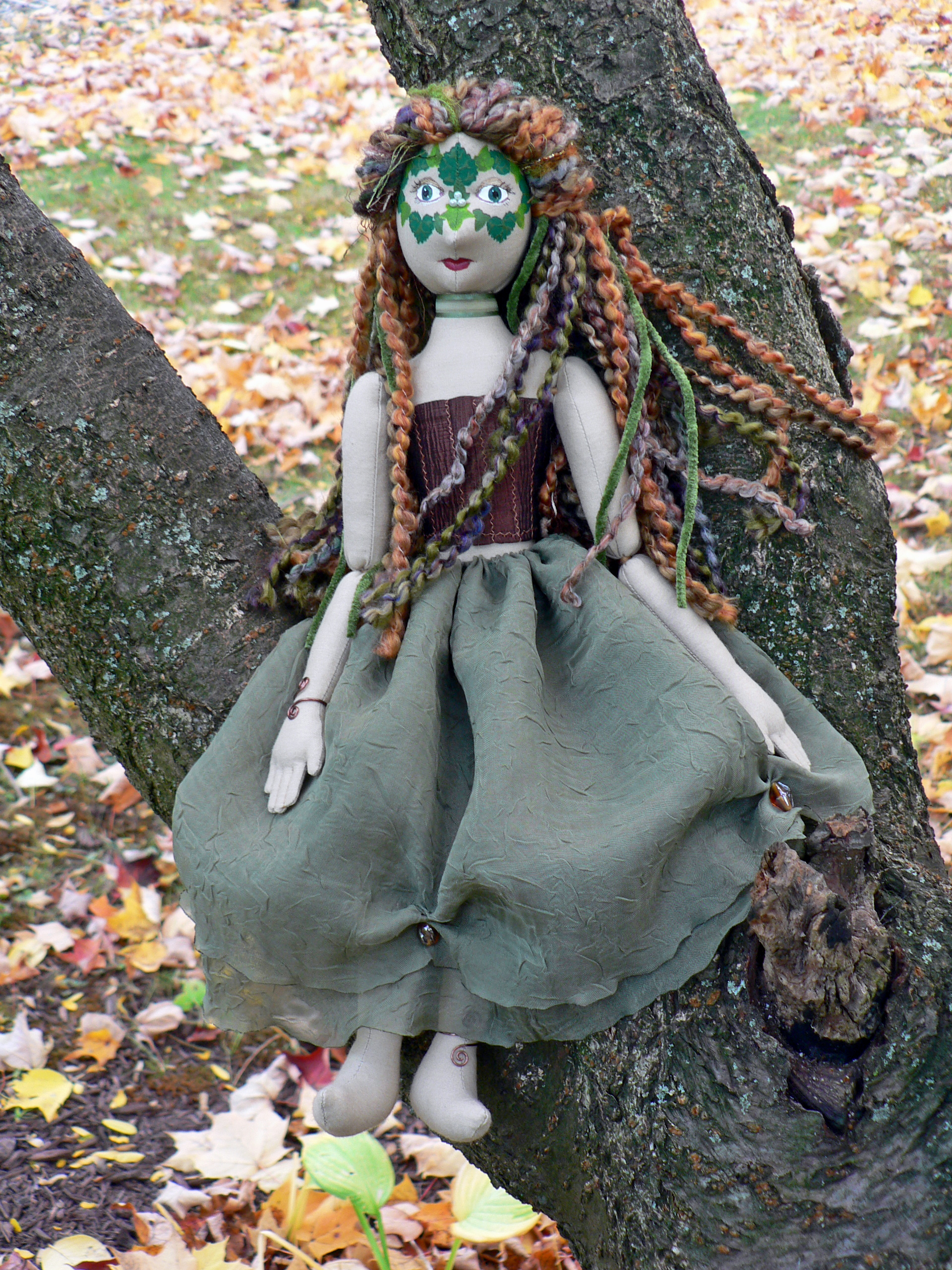 Greenwoman Doll by magpie-poet