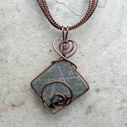 Gibeon Meteorite in Copper