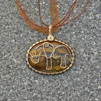 Tigers Eye Elephant Pendant
