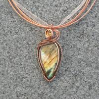 Sunrise Labradorite and Citrine Pendant