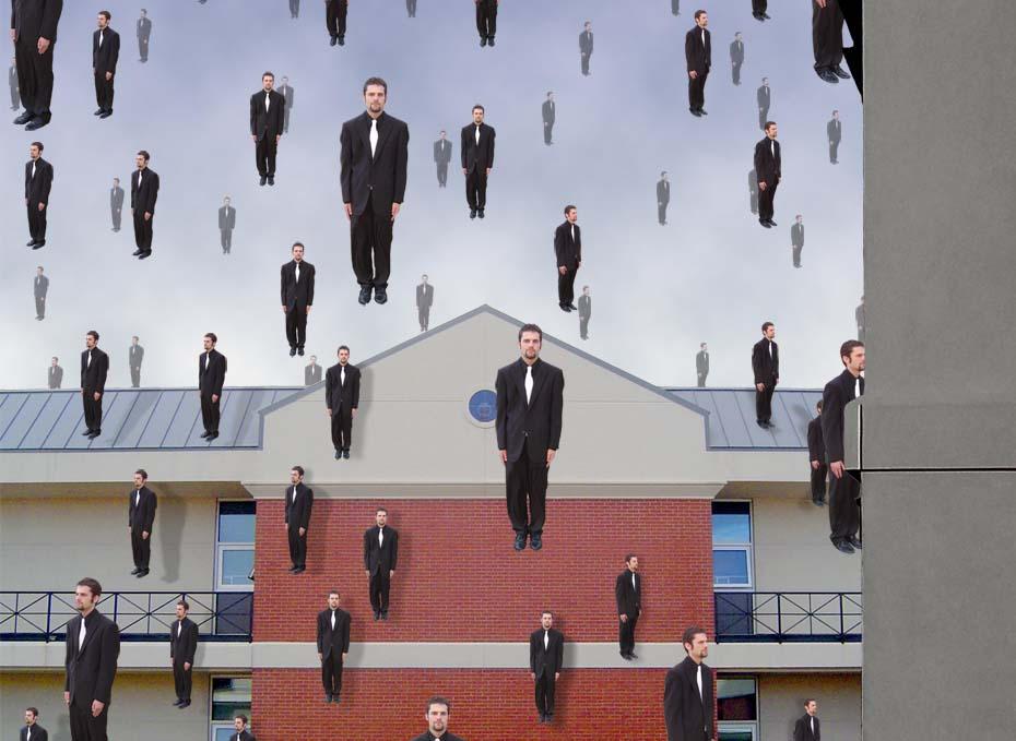 Rene Magritte Raining Men by weuxanurg on DeviantArt