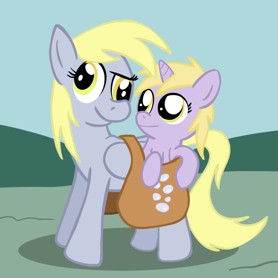 Derpy and Dinky by TranquilMind