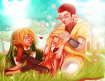 Pipit, Link and their child