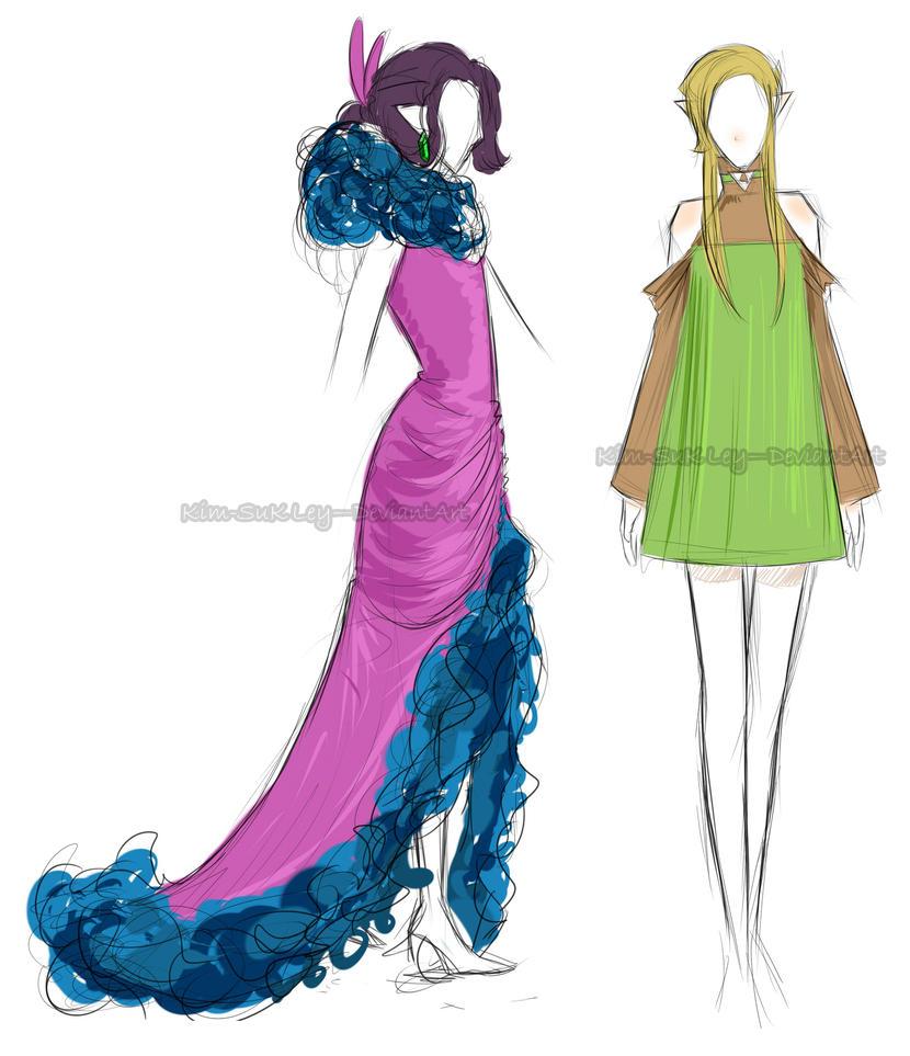 Ravioli inspired dresses by Kim-SukLey