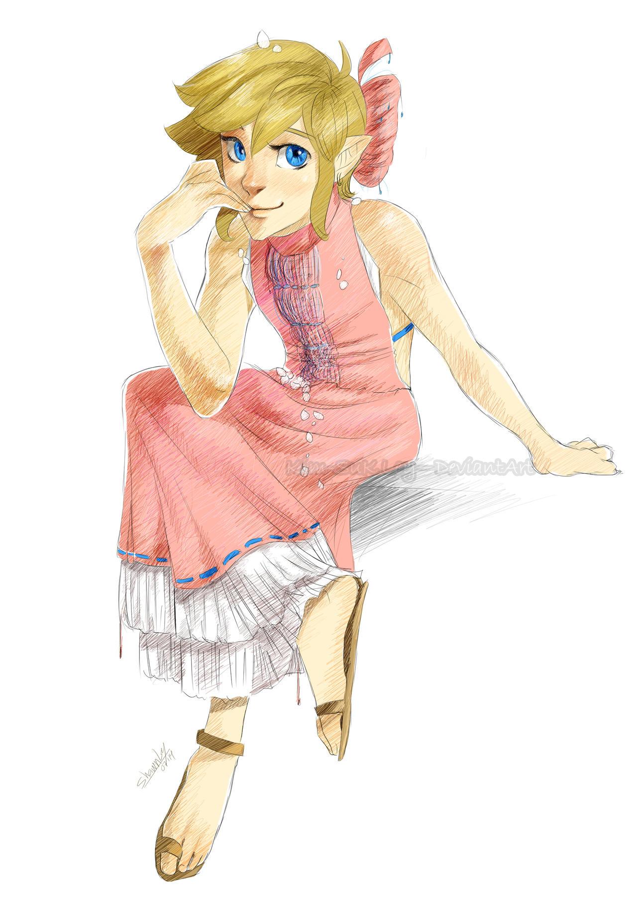 SHC- A pink dress by Kim-SukLey
