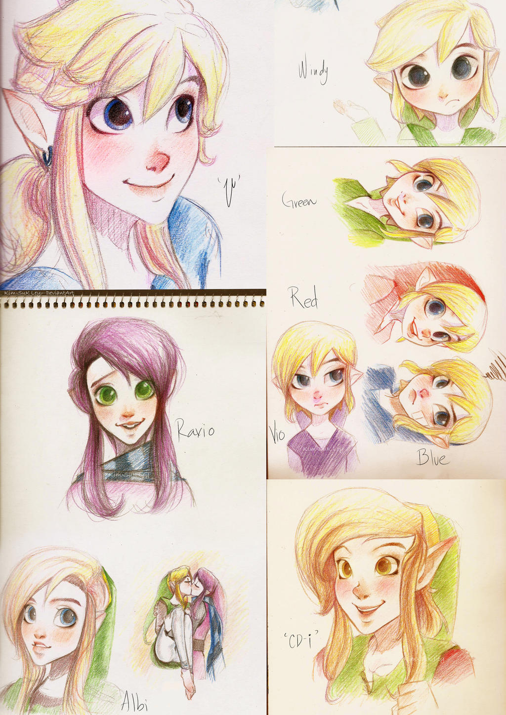 Linky sketches by Kim-SukLey