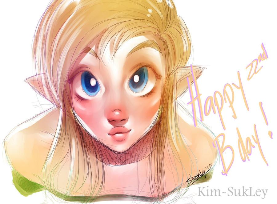 Happy b-day 2 mii! by Kim-SukLey