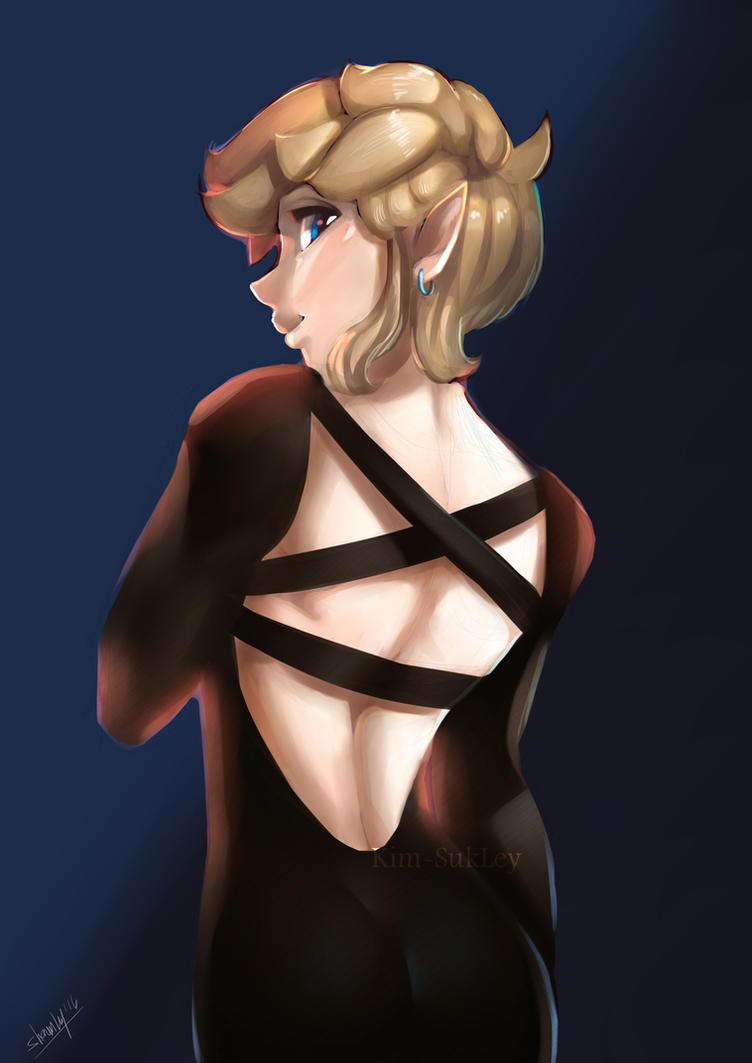 Tight black dress by Kim-SukLey