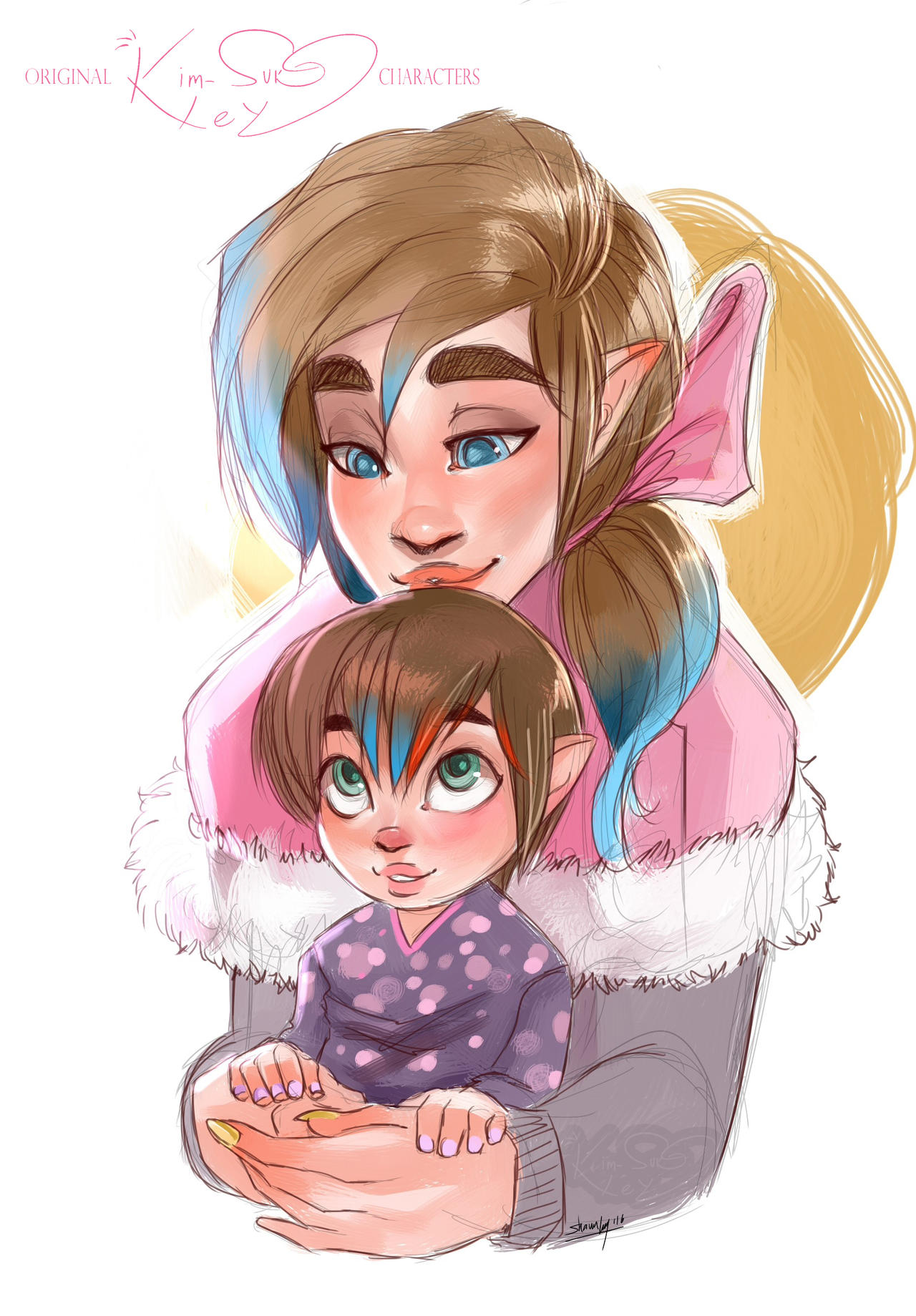 A young parent by Kim-SukLey