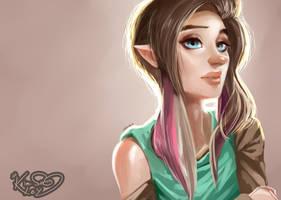 Pink bangs by Kim-SukLey
