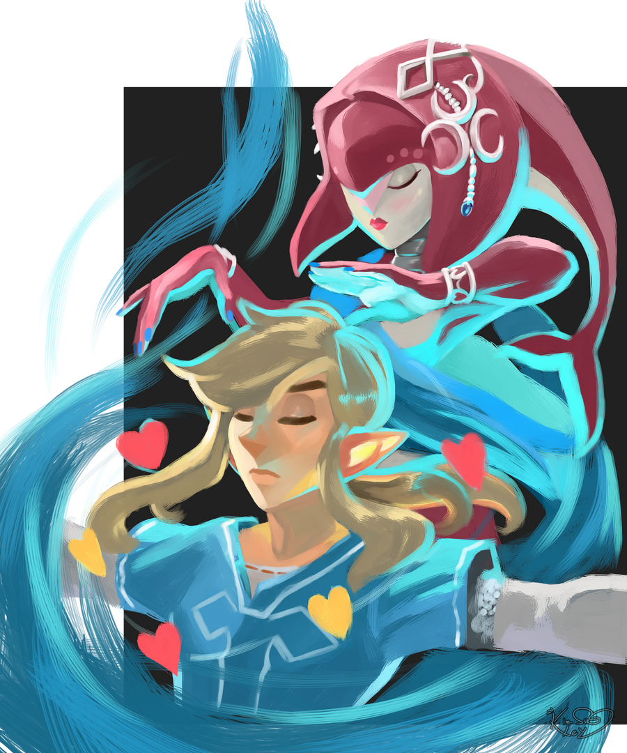 With Mipha's divine protection by Kim-SukLey