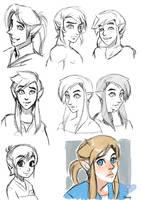SHC- Restyle, Link sketches by Kim-SukLey