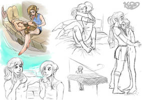 SHC- Arrow and Albi, study sketches by Kim-SukLey