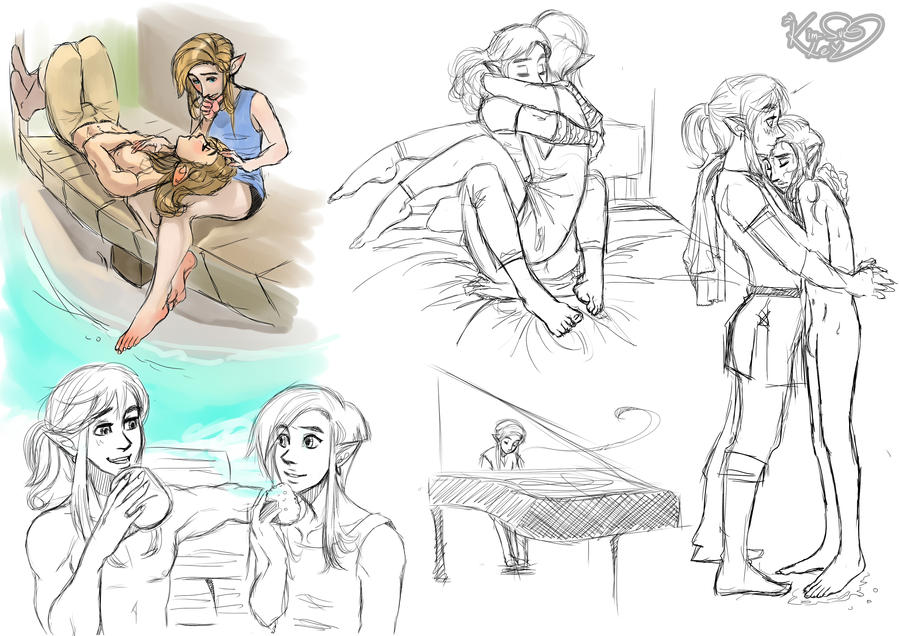 SHC- Arrow and Albi, study sketches by Kim-SukLey