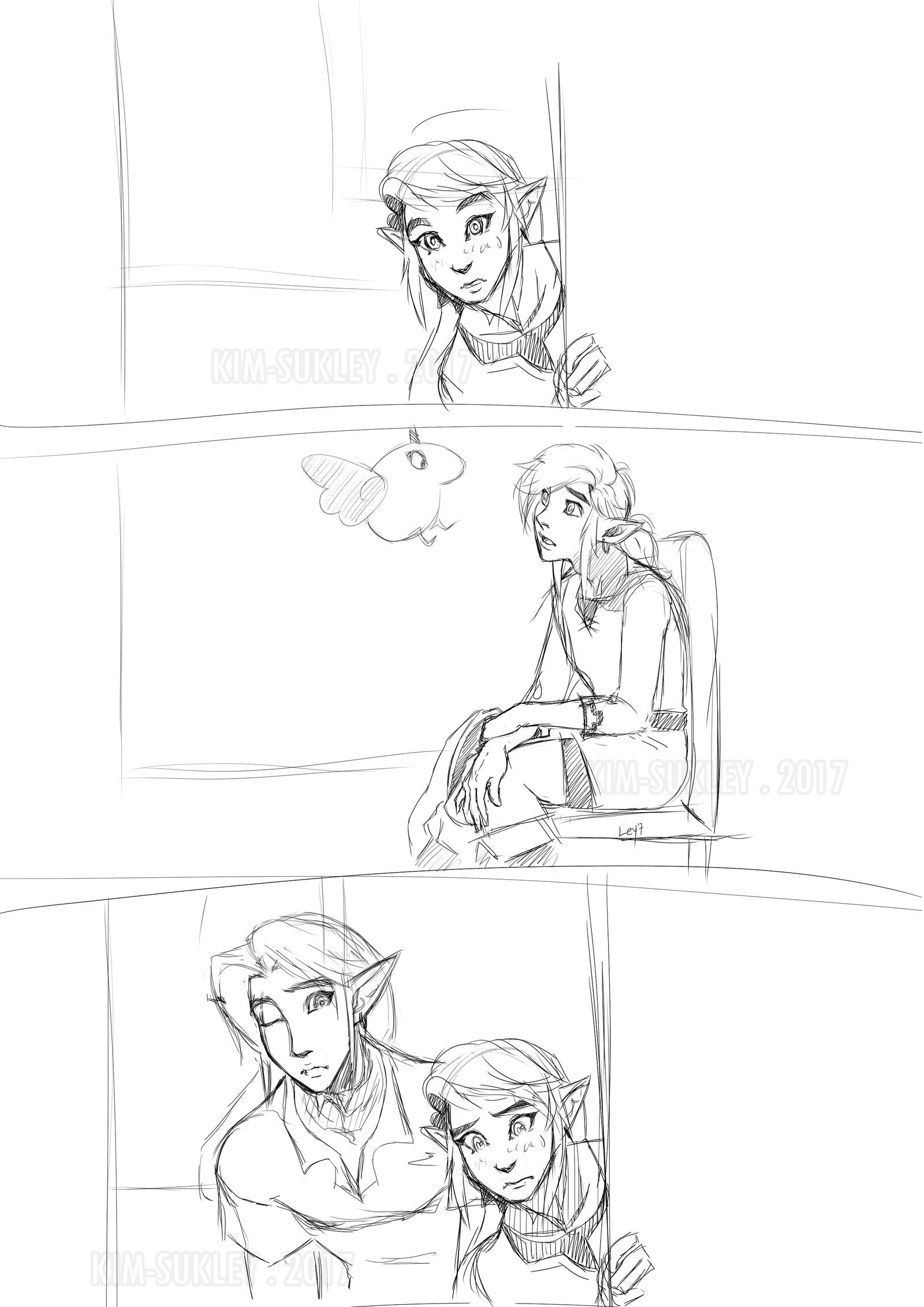 SHC- Twi discovers Arrow -sketch- by Kim-SukLey