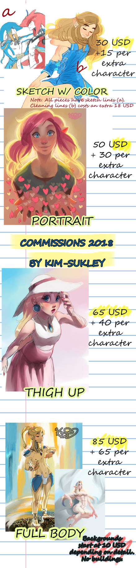 2018 COLORED Commission Price List by Kim-SukLey