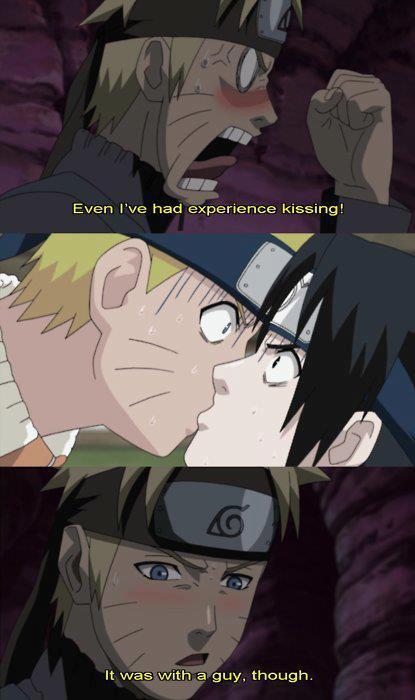 Sasuke and naruto kissing
