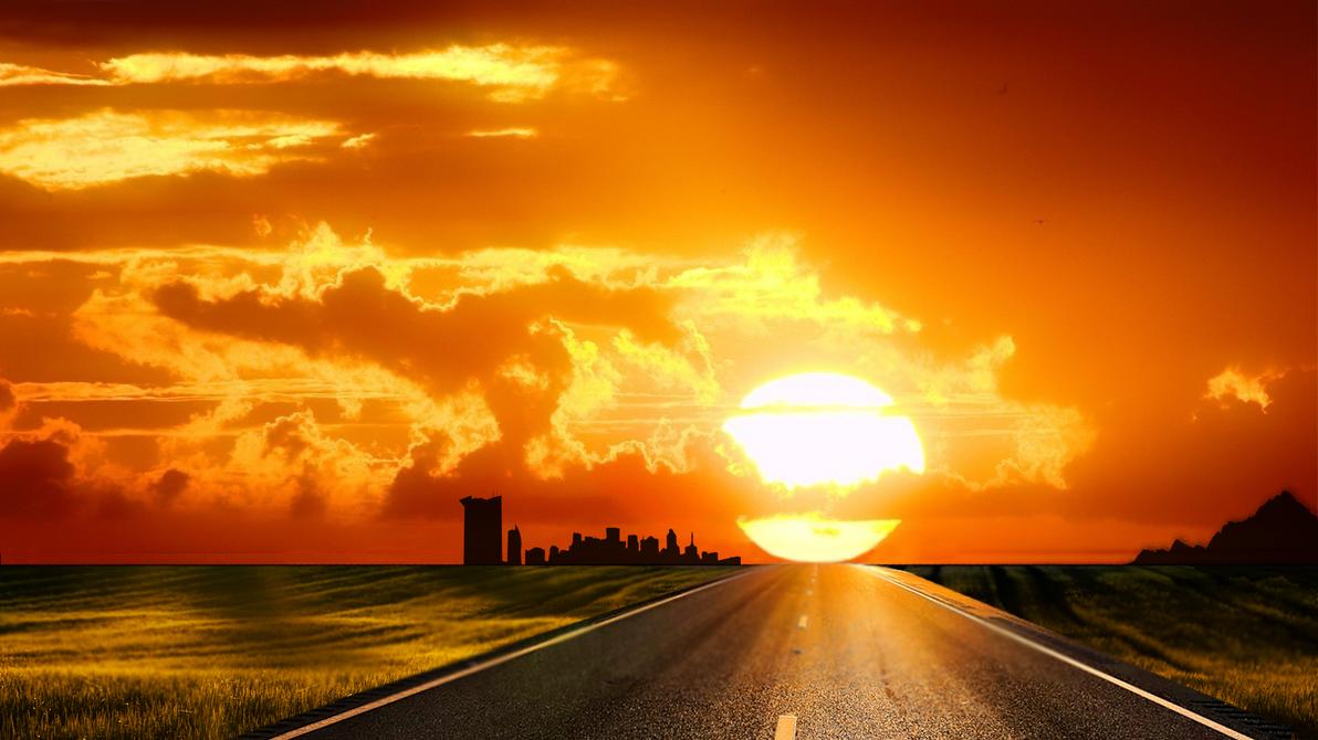 hd sunset backgroundwallesson97 on deviantart