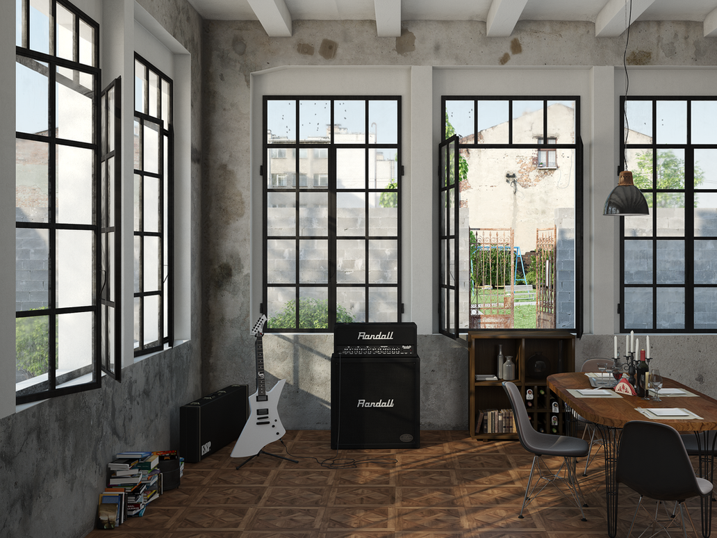 Industrial Music Room by llMarcos