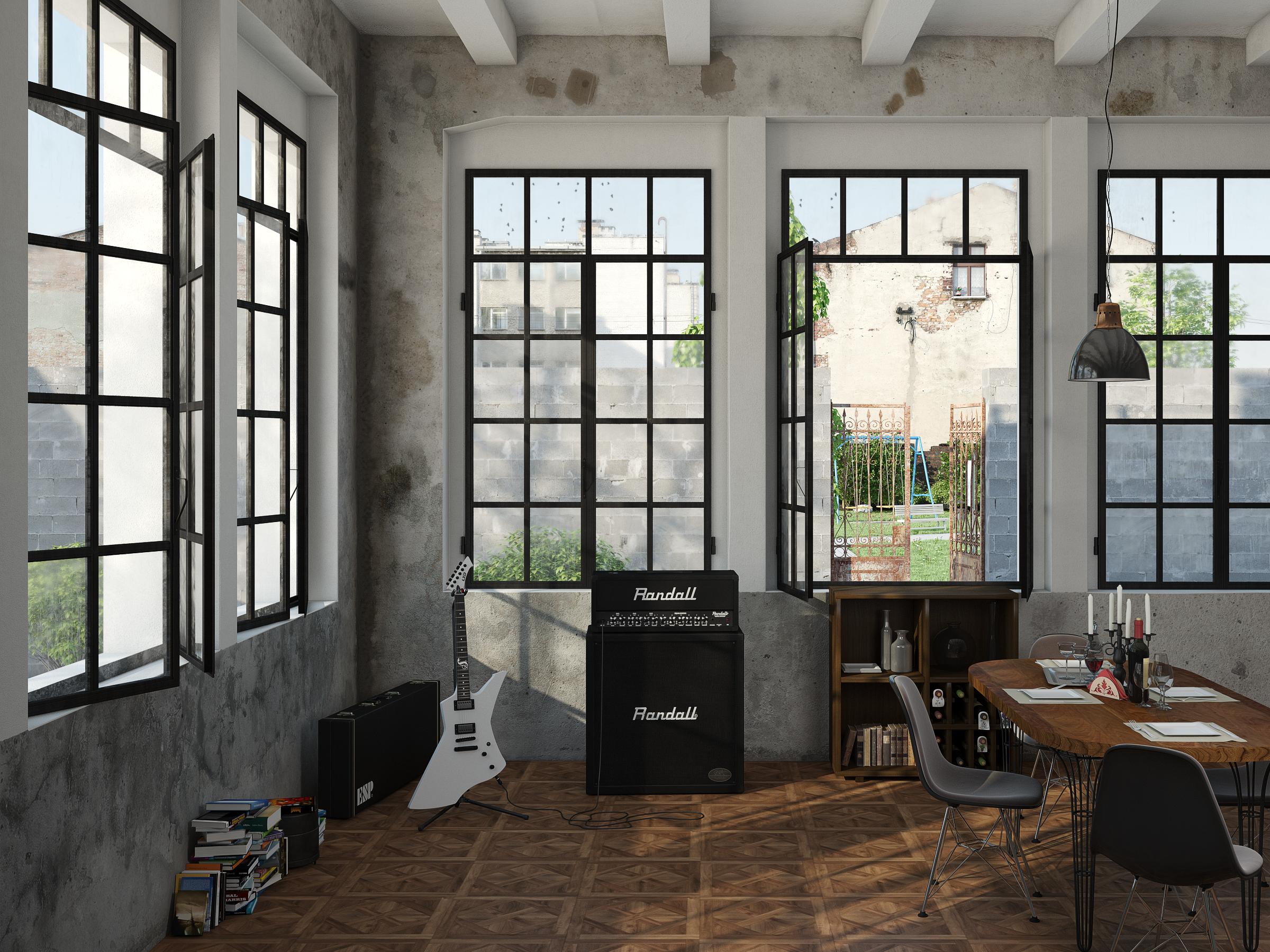 Industrial Music Room by llMarcos