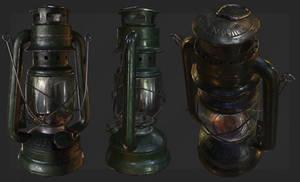 Old and dirty kerosene lamp