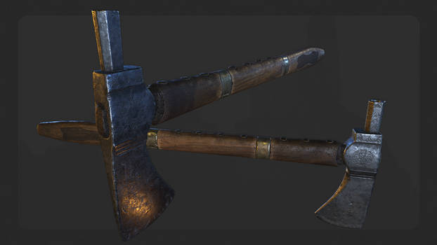 Old pipe axe