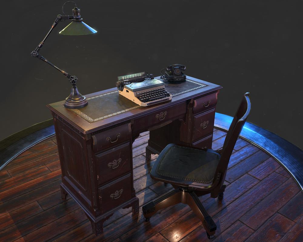 Desk scene by llMarcos
