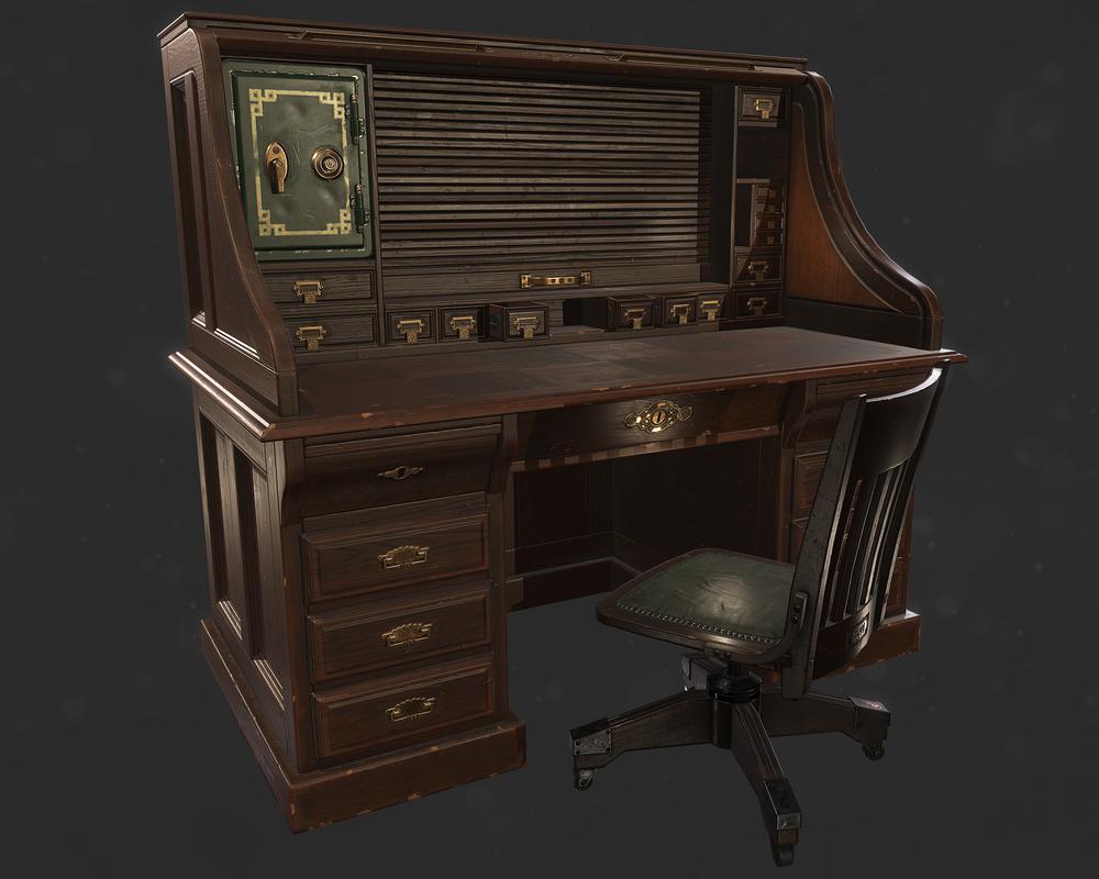 Antique office desk by llMarcos