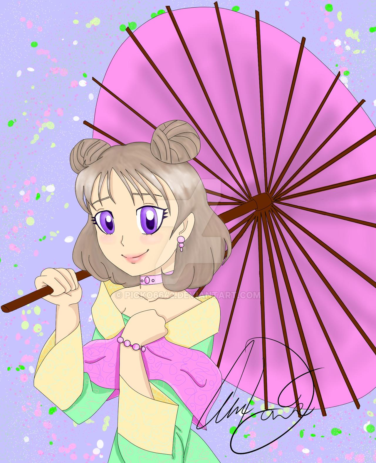 Anime Girl in Kimono Render by HaruRenders on DeviantArt