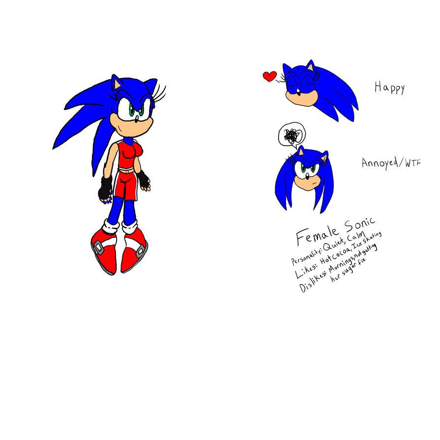 Female Sonic-scribbles By Bisharp-warrior On DeviantArt