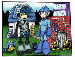 MegaMan and Mighty Number 9 - Colored Version