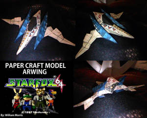 Star Fox 64 - Arwing - Paper Craft Model