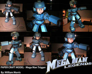 MEGA MAN LEGENDS - Paper Craft Model