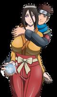 Hanabi and Konohamaru Ship - Naruto Boruto Fanart