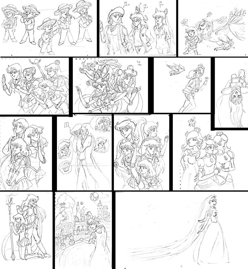 Sketchdump XXXIV by Silverlegends