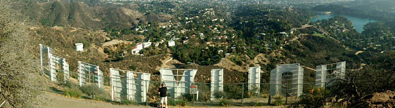 Behind the Hollywood Sign by inazar